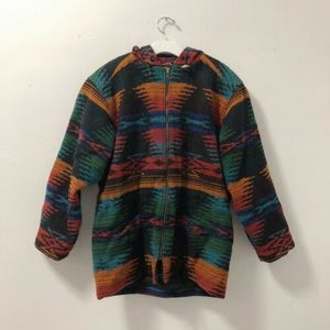 Woolrich Southwest Wool Blanket Hooded Jacket Coat